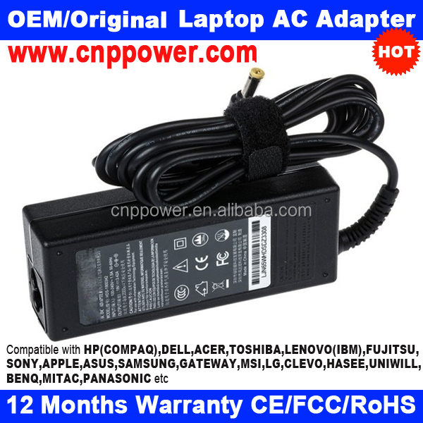 65W 19V 3.42A 5.5mm-2.1mm Replacement AC Adapter for ACER TRAVELMATE C310, K-550