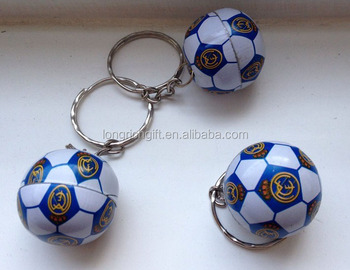 cheap metal tin ball shape keychain for promotion