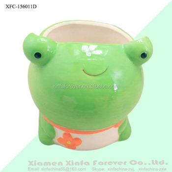 Cute Ceramic Frog Planter