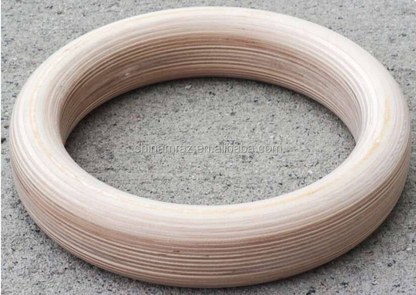 Wooden gymnastic training rings wood ring circle crafts for Wooden rings for crafts