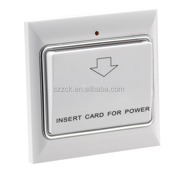best quality wall mount hotel insert card key switch energy saving key card switch for hotel