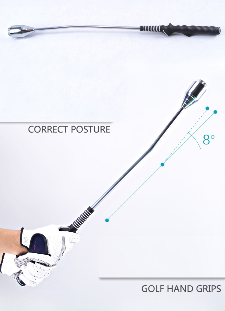 New Golf training aids exercise stick hand-type practice grip swing stick rod warm up swing trainer
