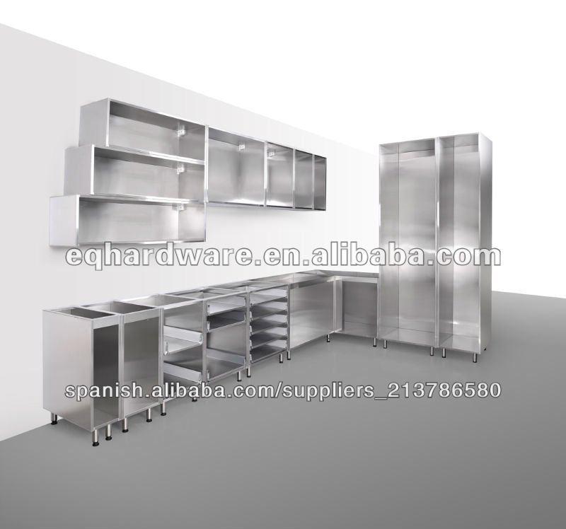 De acero inoxidable de gabinete de la cocina de la canal for Cocinas de acero inoxidable para restaurantes