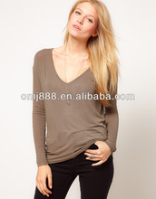New winter 2012 show thin long sleeve T-shirt unlined upper garment femal