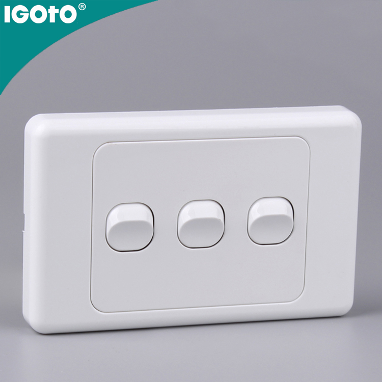 Saa Australia 3 Gang Light Switches Types Of Electrical Wall ...