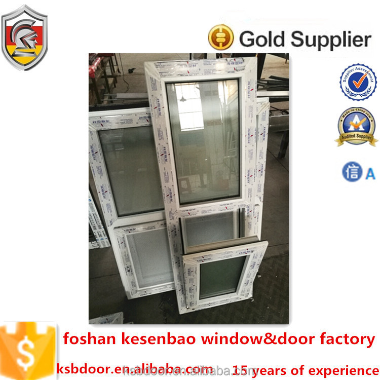 2016 latest cheap house window upvc bottom hung inside open window