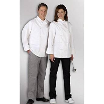 MDT77502105 - Pearl Button Chef Coats,White,2XL
