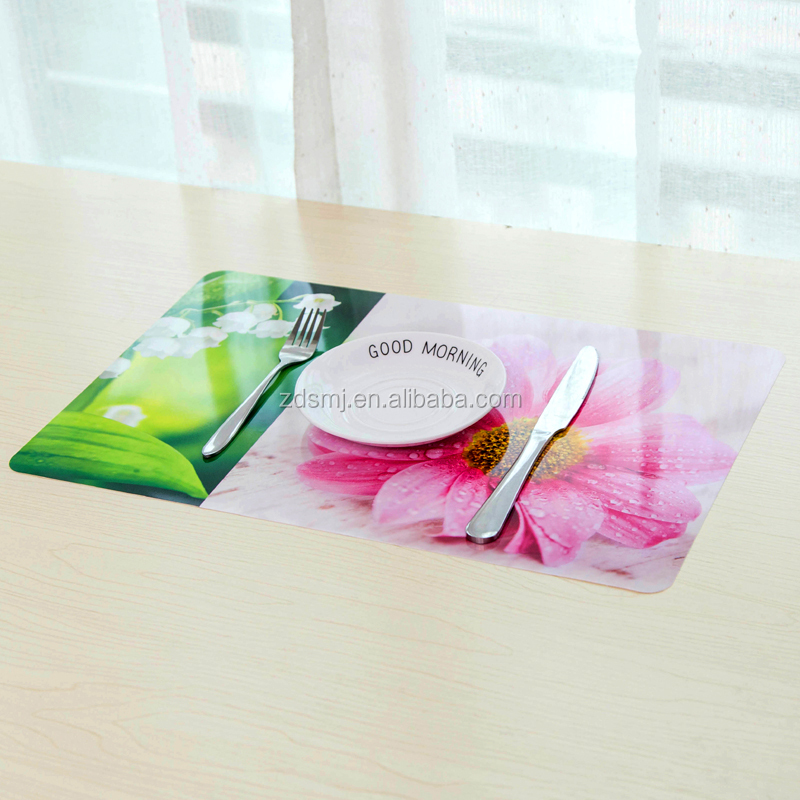Table placemat plastic printing placemat clearkids play pad table mat cover with flowers design