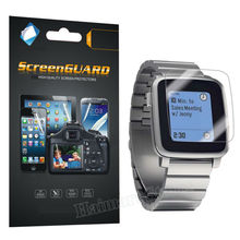 Military Grade INVISIBLE FRONT Film Anti-Shock & Glare Screen Protector Shield Skin For Pebble Time Steel Smart Watch