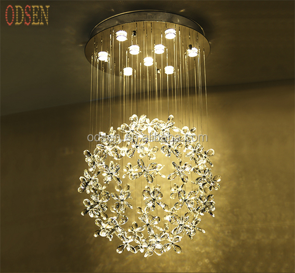 <strong>Modern</strong> LED luster K9 clear crystal chandelier LED crystal celling chandelier lighting