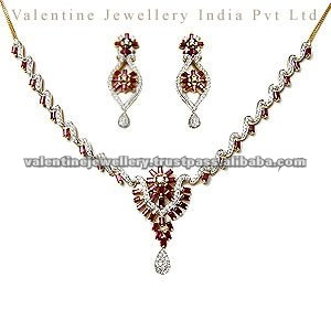 Ruby Necklaces Indian Gold Necklace Set Indian Gold Jewellery