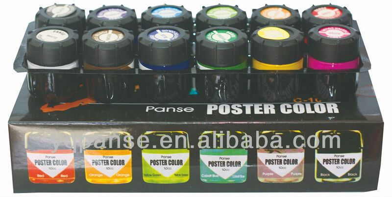 poster paint kit different colours of multiple poster paints