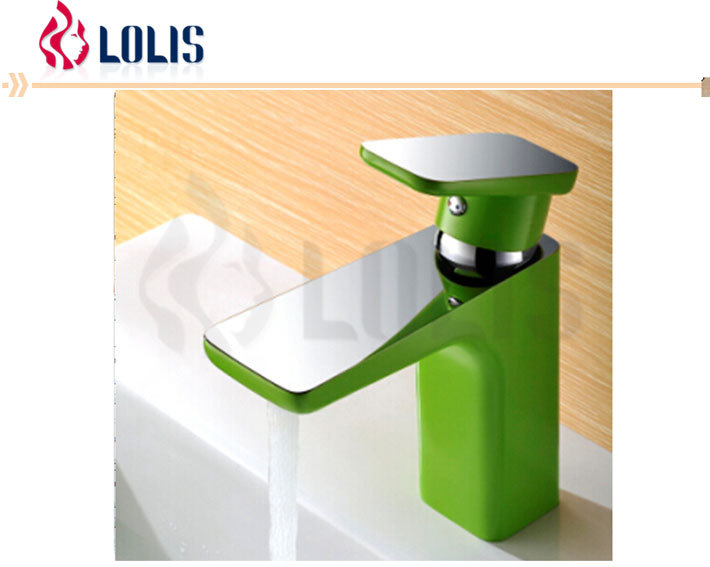 HM85068YC New Deck Mounted Brass Green Color economic wash basin faucet