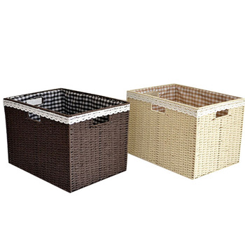 Wholesale premium handmade natural rectangular empty wicker traditional gift hamper basket with lid