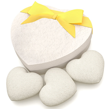 Japan Heart Shape Konjac Sponge for Facial Cleaning Help Blance the Skin's pH