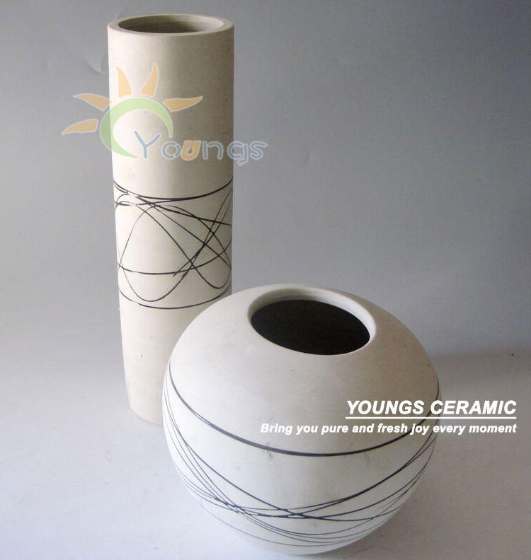 Fashion Ceramic Black And White Vases