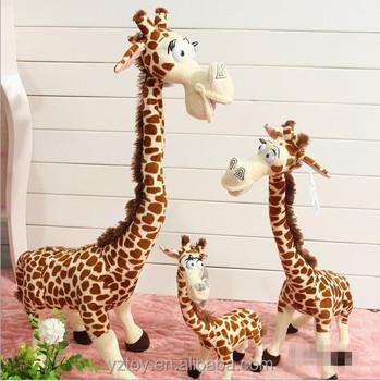 Anime Madagascar Giraffe Plush Toys Kawaii Long Neck Giraffe Stuffed