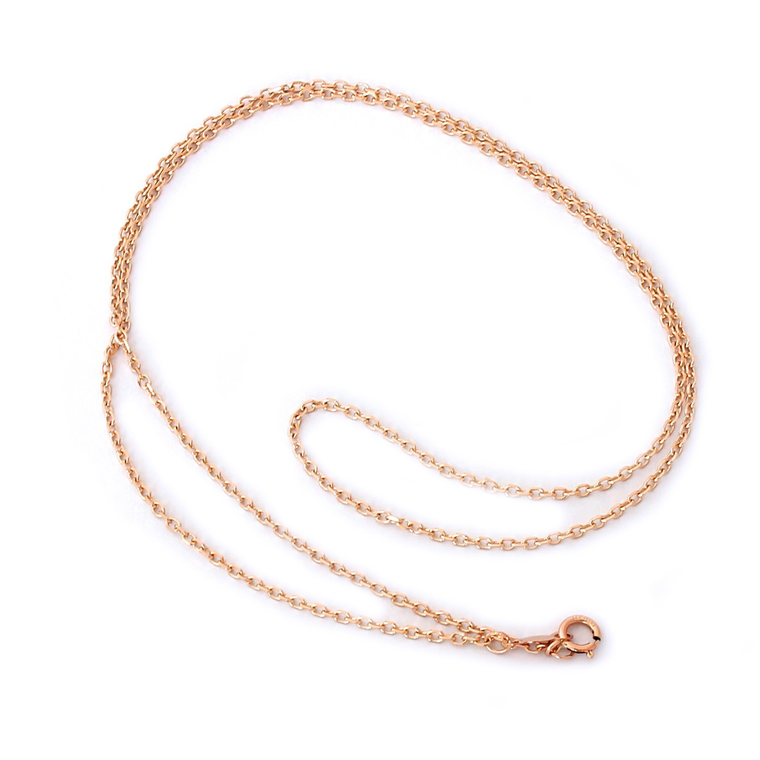 "14k Yellow, White or Rose Gold 1.6mm Round Rolo Cable Chain Necklace, 13"" 15"" 16"" 18"" 20"" 22"""