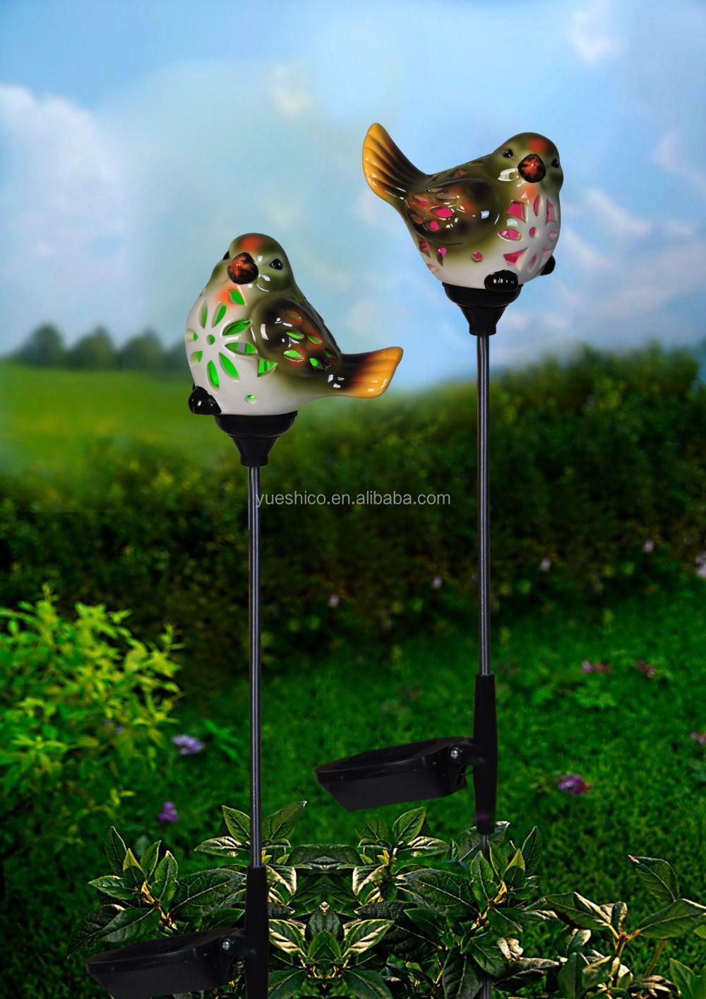 2017 New Bird Solar Garden Light, Ceramic Garden Solar Light, Solar System Garden  Light