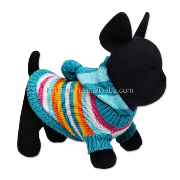 Pet clothing knitted sweater pattern fashion hooded dog clothes