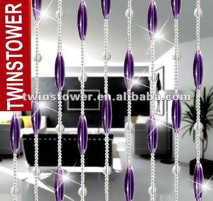 Fashion Purple Crystal Beaded Door Curtain