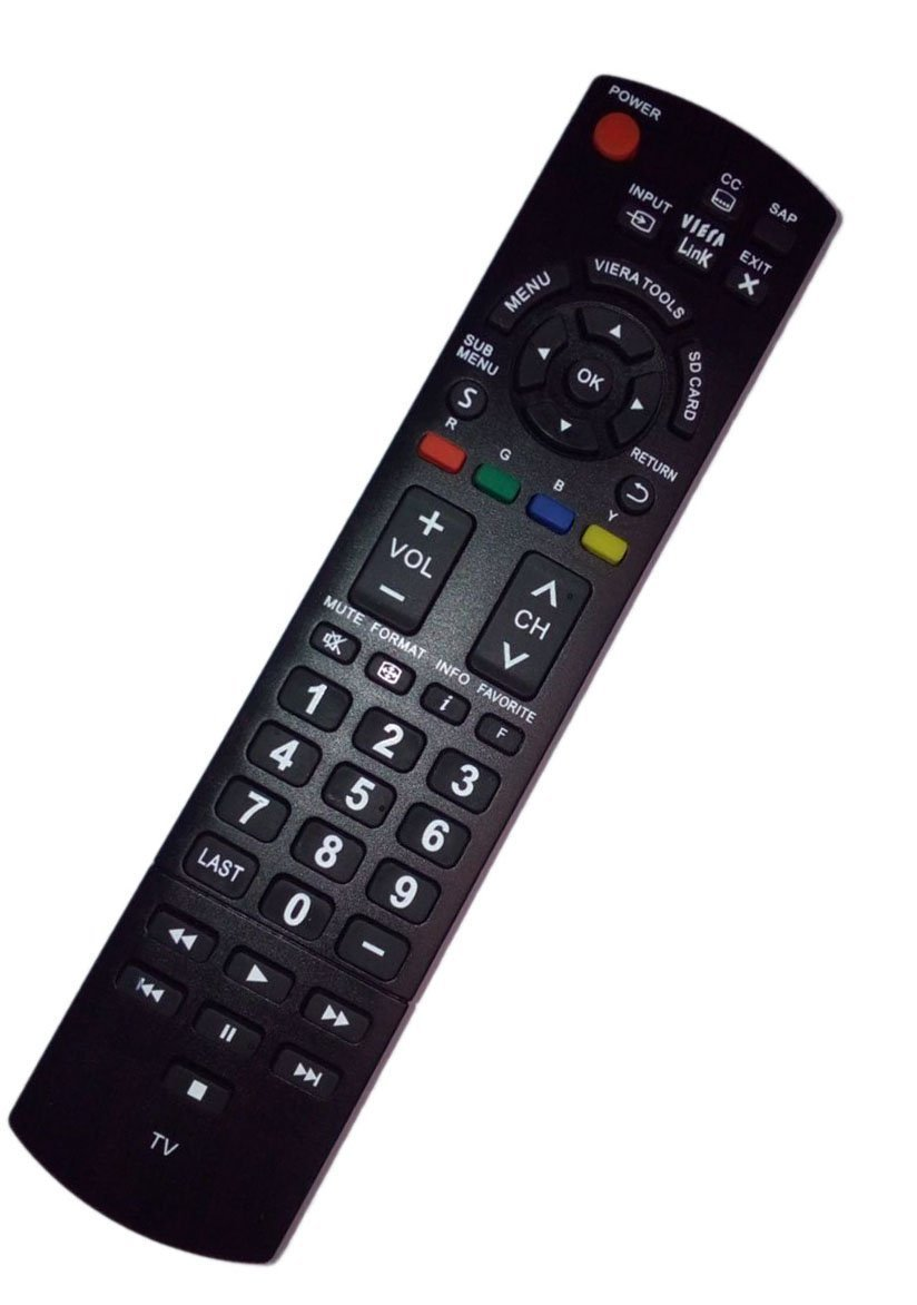General Replacement Remote Control Fit for N2QAYB000570 TC-P50U50 TC-42PS14 TC-50PS14 Viera LCD LED Plasma HDTV TV