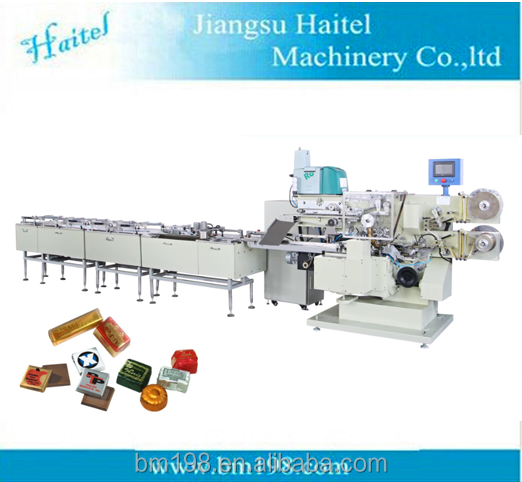 square or rectangle chocolate fold wrapping machine