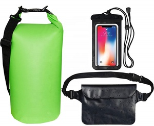 3 IN 1 Detachable Shoulder Strap Dry Sack, Waterproof Waist Pouch & Waterproof Phone Case Submersible for Kayaking Canoeing