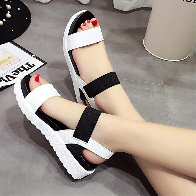Kstare Baby Girls Fashion Casual Beach Shoes Summer Elastic Band Dancing Wedding Non-Slip Soft Bottom Sandals