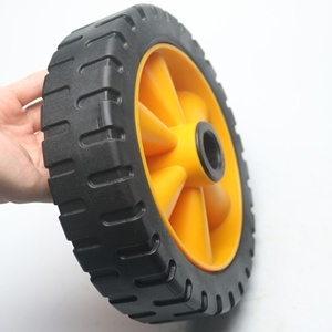 10x2 pu foam tire 10inch plastic rim children wagon toy wheel