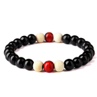 Wholesale custom handmade chinese wooden religious bead bracelet with logo for women and men