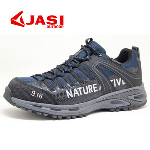 Steel toe rubber sole breathable mesh upper safety shoes for man