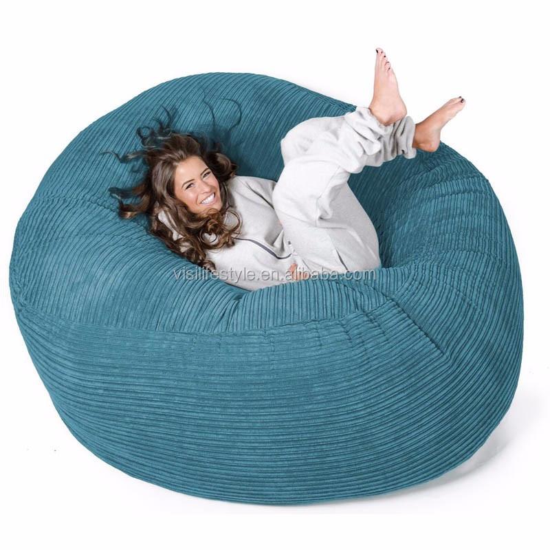XXL LARGE Microsuede Corduroy Foam SAC Sitting Room Furniture Beanbag Lounger Lounge Puff