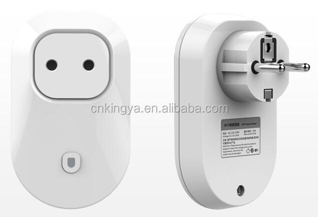 Wifi Remote Control Power Outlet European Plug