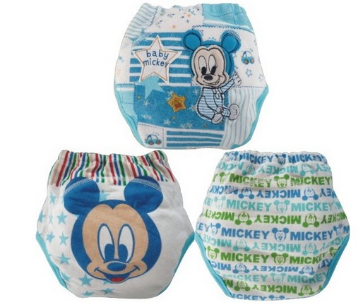 3pcs lot New potty training pants cloth diapers baby panties mickey minnie underwear underpants free shipping