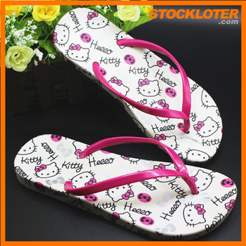 4739e10ae618 Cute Slipper For Teenagers Stcok Lot Print With Hello Kitty 150811 ...