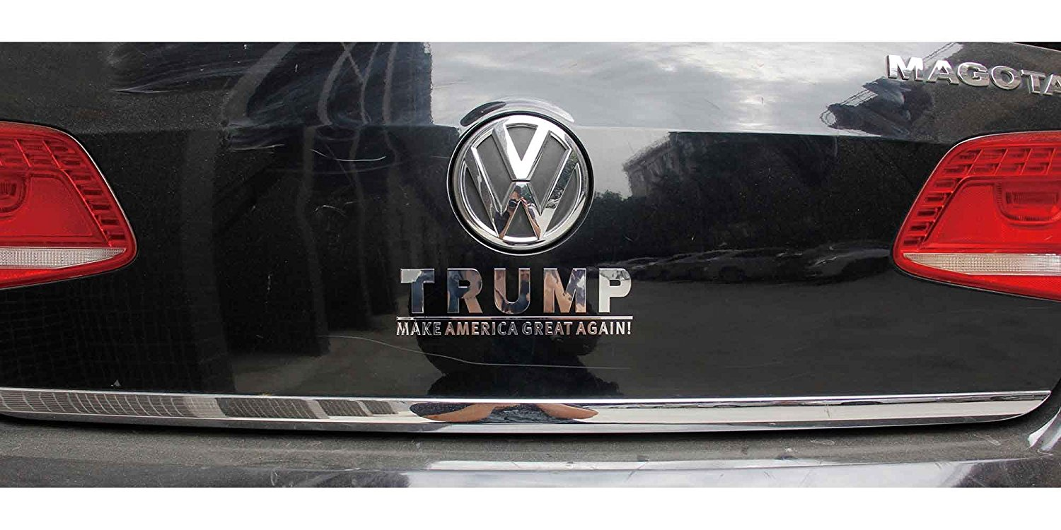 Donald trump bumper stickers shiny metal sticker donald trump make america great again for notebooks cars