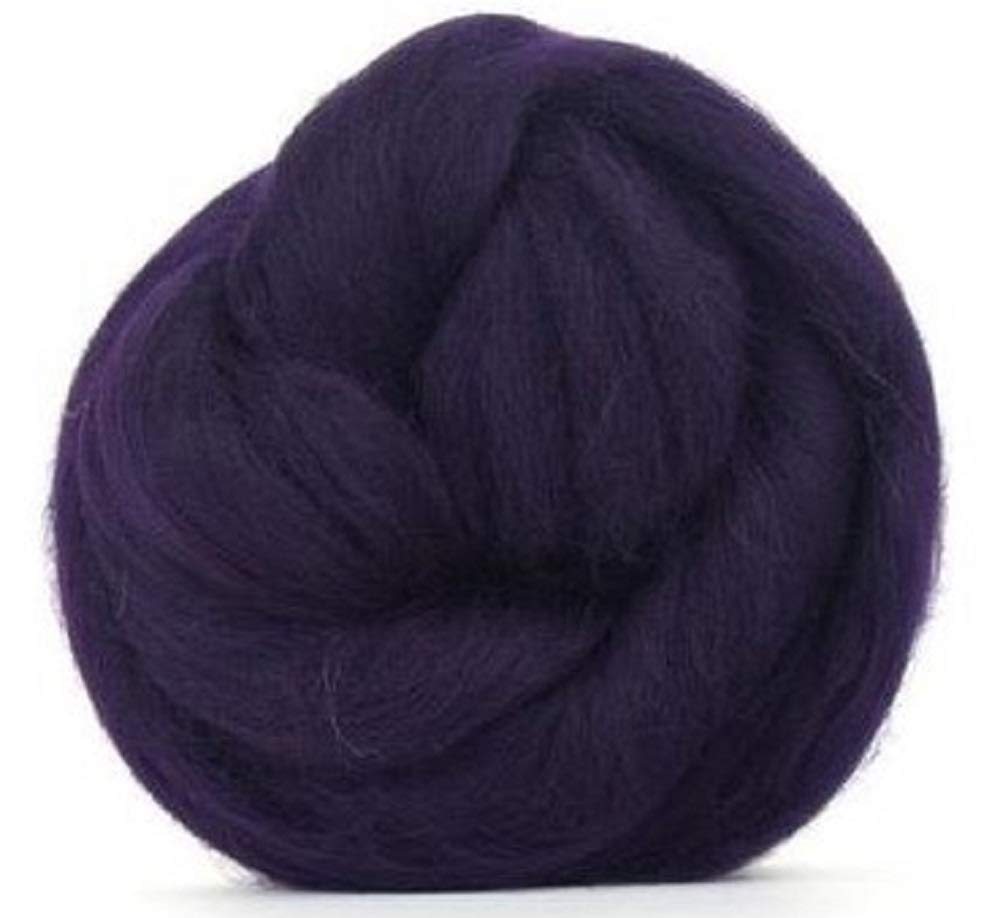 Paradise Fibers Ultra Violet Multi Colored Merino Wool Top 4 oz Highest Quality Spinning Fiber Luxuriously Soft Wool Top Roving drafted for Spinning Felting Blending and Weaving