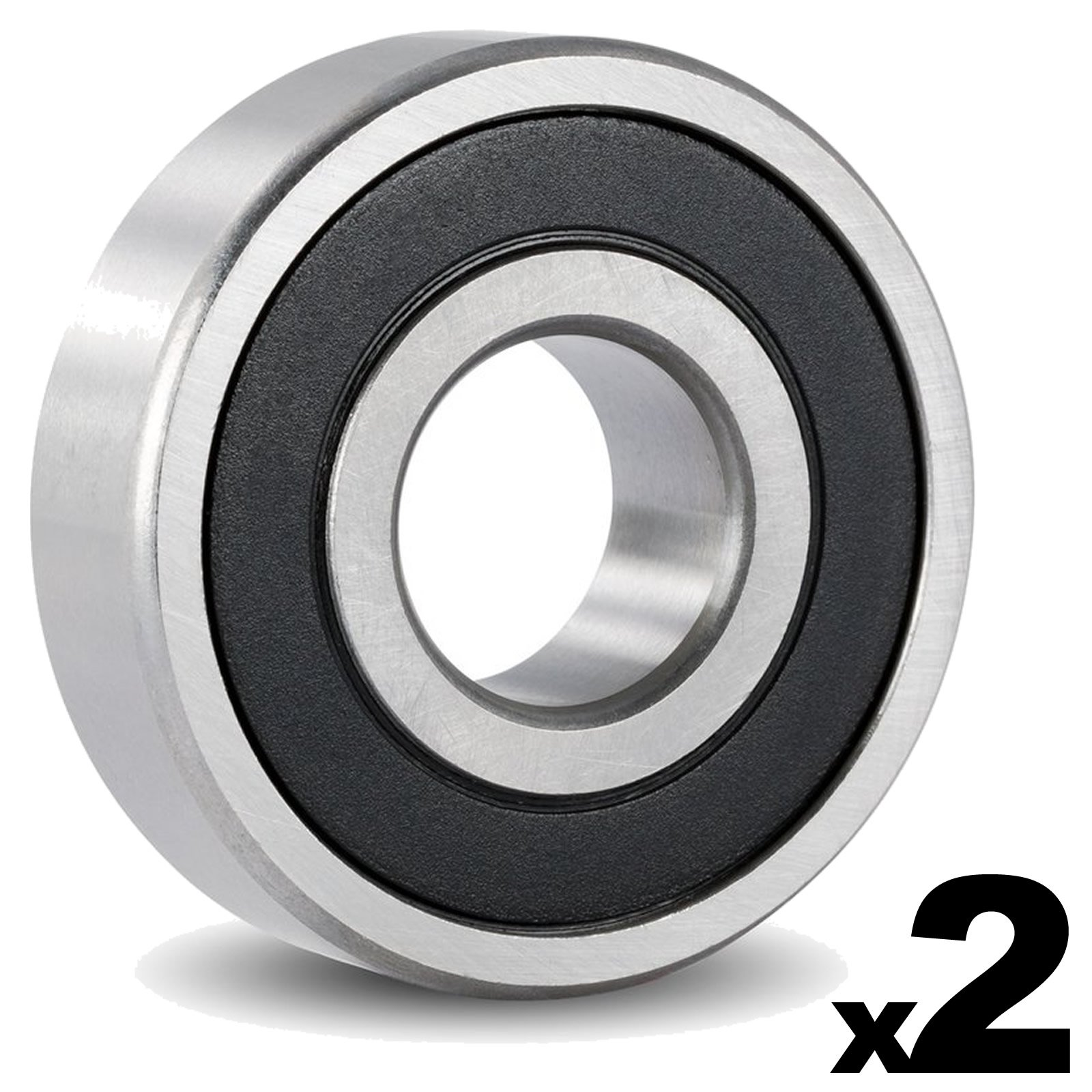6302-2RS Sealed Bearing - 15x42x13 - Lubricated - Chrome Steel (2 PCS)