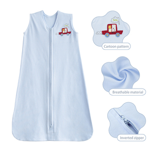 high quality wearable blanket baby blue infant sleeping bag