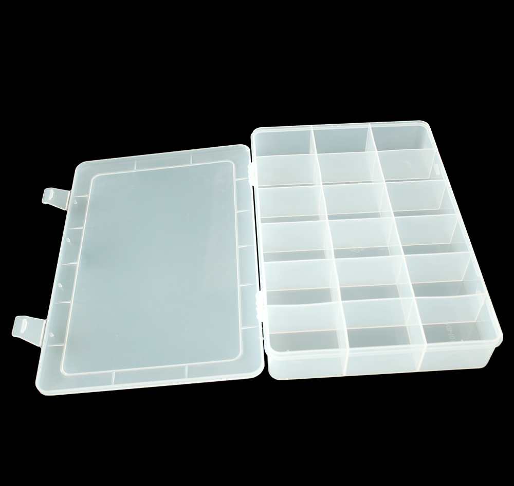 Multi-function 18-Compartment Plastic Storage Box for Electronic Components or Small Gadgets