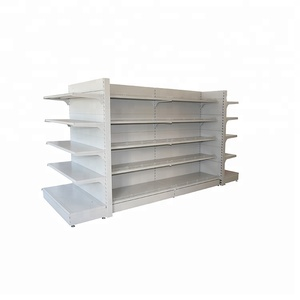 Supermarket grocery retail store shop heavy duty metal display stand rack gondola shelves