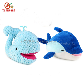 Custom Plush Sea Otter Stuffed Animal Blue Whale Dolphin Toy For
