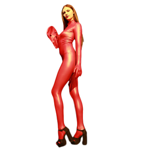 Zentai Sexy Body Fun Spandex Latex Open Eye & Mouth All-inclusive Tights Catsuit Men and Women Wear Stage Jumpsuit