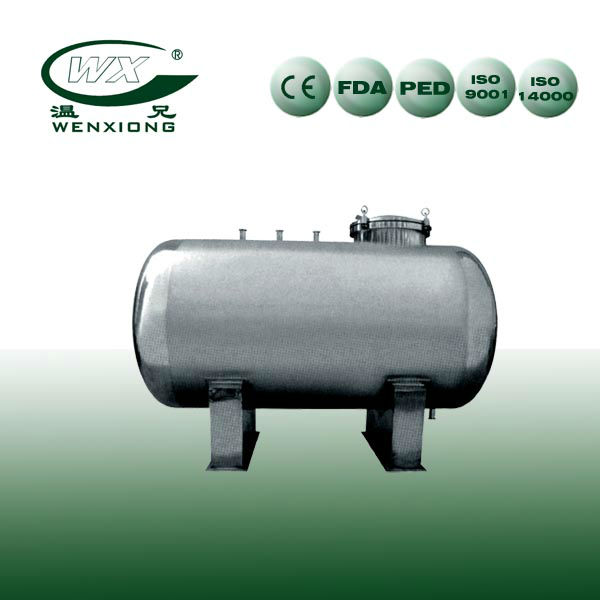 horizontal type storage tank for food and beverage industry
