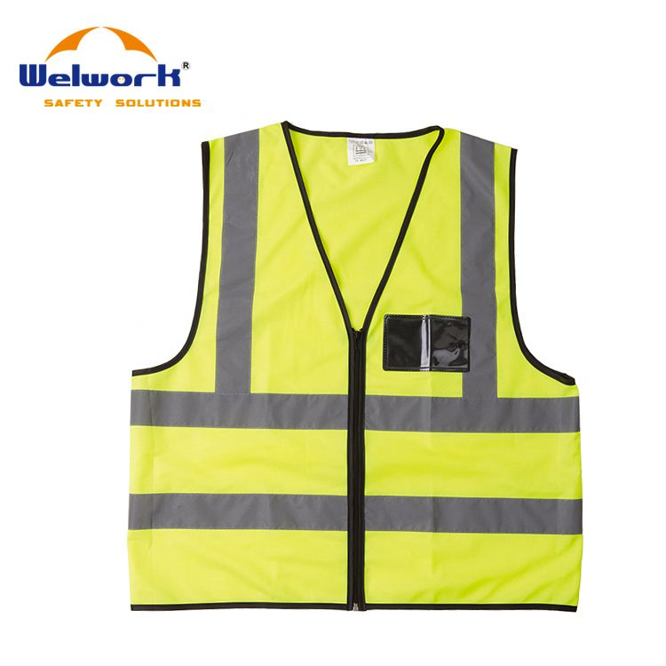 High Quality Eco-friendly pink safety vests with pockets