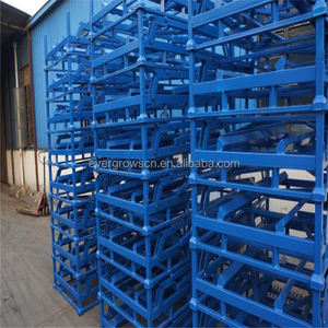 Stacking Heavy Duty Foldable Metal Welded Tubular Tire Pallet Rack For Storage