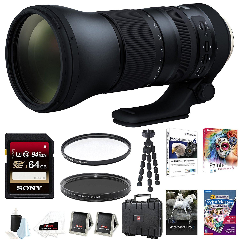 Tamron AFA022C700 SP 150-600mm Di VC USD G2 f/5.6-40.0 Telephoto Zoom for Canon A022 64GB Accessory Bundle