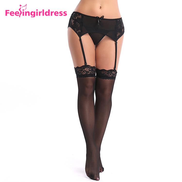 70698653cb Venta caliente más tamaño de las mujeres ropa interior transparente negro  encaje liguero sexy
