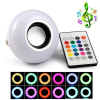 Wireless bluetooth smart led speaker light bulb e26 smartphone app controlled music rgbw multicolor changing
